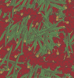 Red floral seamless pattern vector