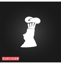 Silhouette of chef in hat vector image vector image