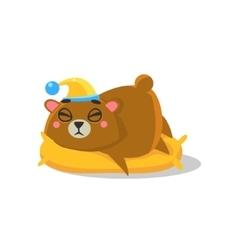 Sleeping Brown Bear vector image vector image