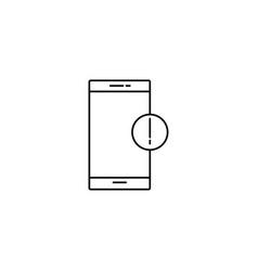 smartphone information icon vector image vector image