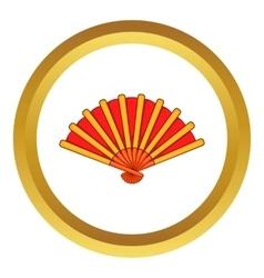 Spanish fan icon vector