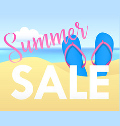 summer sale tamplate design banner vector image vector image