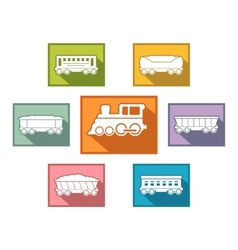 train set for passenger or cargo industry vector image vector image