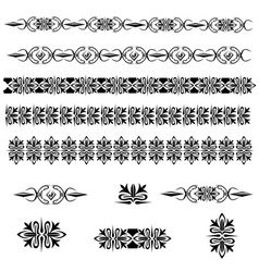 vintage decoration pages vector image
