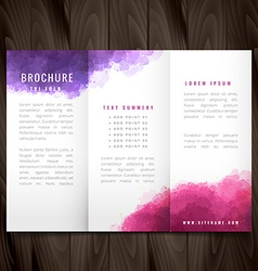 creative trifold brochure made with colorful ink vector image