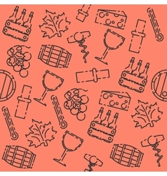 Wine set pattern vector image