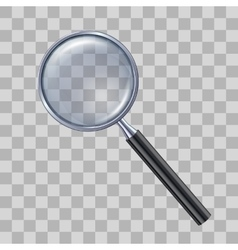 Magnifying glass on transparent background vector
