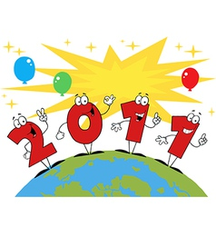 2011 new years cartoon vector