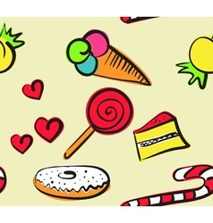 sweets seamless doodle vector image