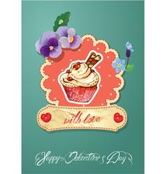 Card cake vector