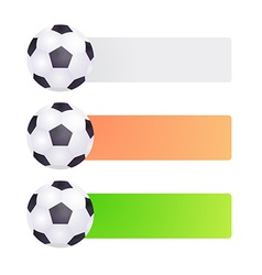 Set label with soccer ball vector