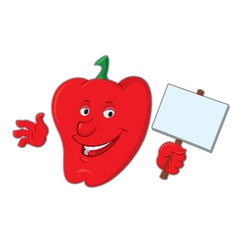 Cartoon bell pepper vector