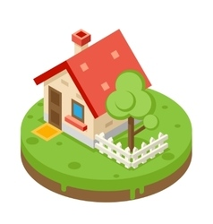 House building private property tree icon real vector