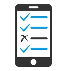 Mobile test icon vector