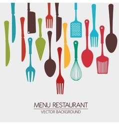 Restaurant and kitchen dishware vector
