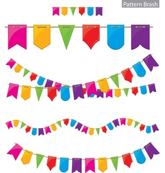 Flag garland vector