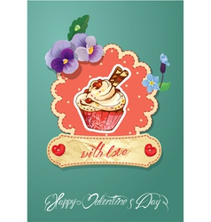 card cake vector image vector image