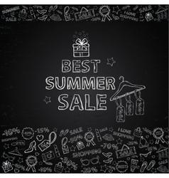 Chalk board summer sale vector