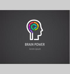 Colorful logo of human head brain symbol vector