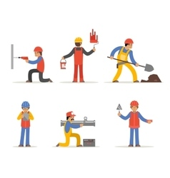 Construction worker architect and engineer vector