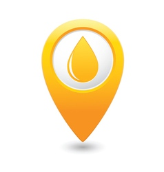 drop icon yellow map pointer vector image vector image