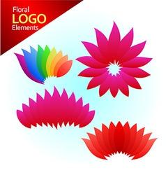 Floal logos vector