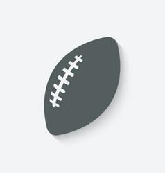 football sport icon vector image