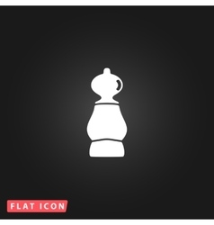 icon of chess pawn vector image vector image