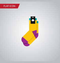 Isolated socks flat icon hosiery element vector