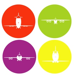 monochrome icon set with planes vector image vector image