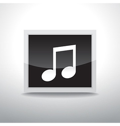 Music button vector image vector image