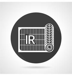 Radiant heating black round icon vector image vector image