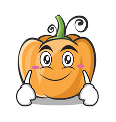 Smile face pumpkin character cartoon style vector
