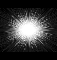 speed light comic book style explosion beam vector image
