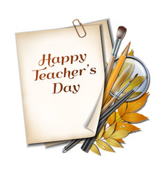 teacher s day card vector image vector image