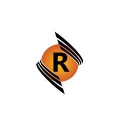 Technology letter r vector