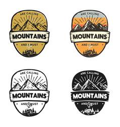 travel logo design concepts monochrome retro vector image