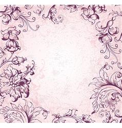 victorian background vector image