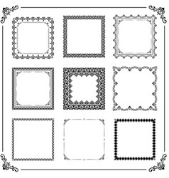 Vintage set of square elements vector