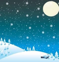 winter snow vector image vector image