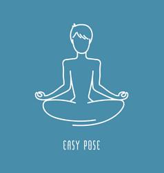 yoga pose line icon vector image