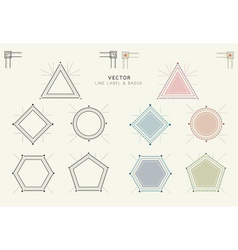 Geometric labels and badges linear style vector