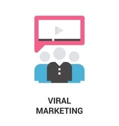 Viral marketing icon concept vector