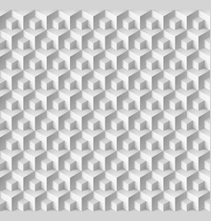 abstract geometric background with cubes in white vector image