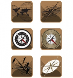 icons compass vector image