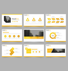 Yellow abstract presentation templates vector