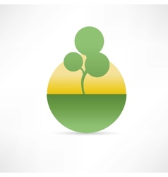 Eco compani icon vector