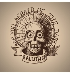 Halloween hand draw skull eps10 vector