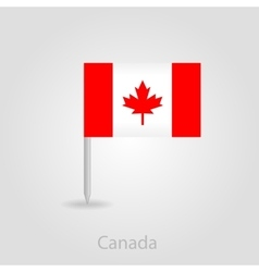 Canada flag pin map icon vector