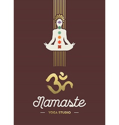 Yoga studio template with chakra elements vector